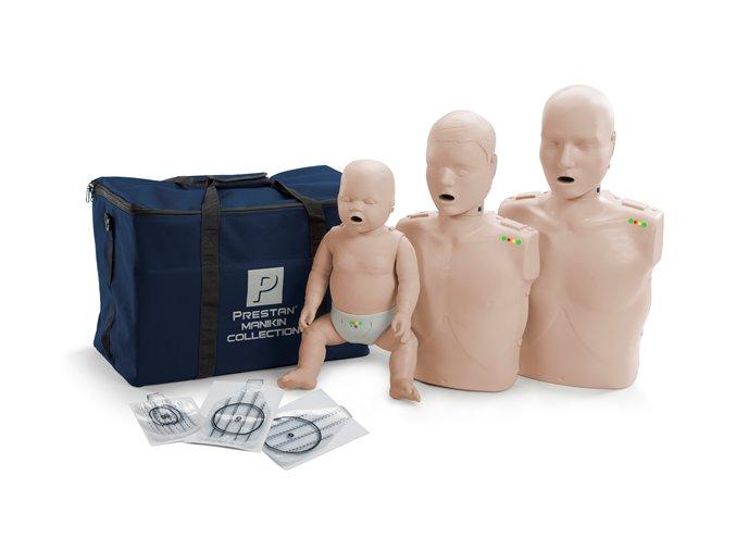 Resuscitační sada dospělý, dítě, kojenec s KPR monitorem
