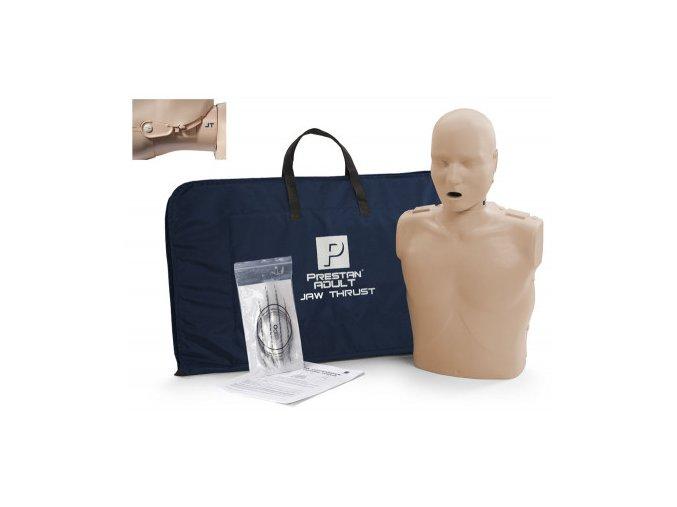 Resuscitační model dospělého s pohyblivou čelistí a KPR monitorem