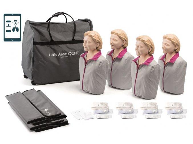 Sada resuscitačních figurín Little Anne QCPR 4 Pack v přepravní tašce