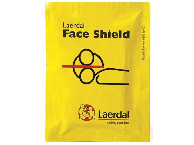Resuscitační rouška Laerdal Face Shield s nesmáčivým filtrem balení