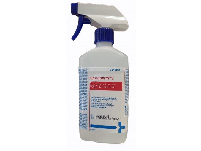 Dezinfekční alkoholový přípravek na ruce Septoderm V s rozprašovačem 500 ml