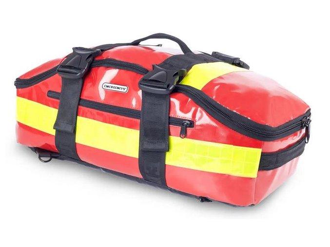 Zdravotnická záchranářská brašna batoh Trapezoid Red Tarpaulin 31 l.