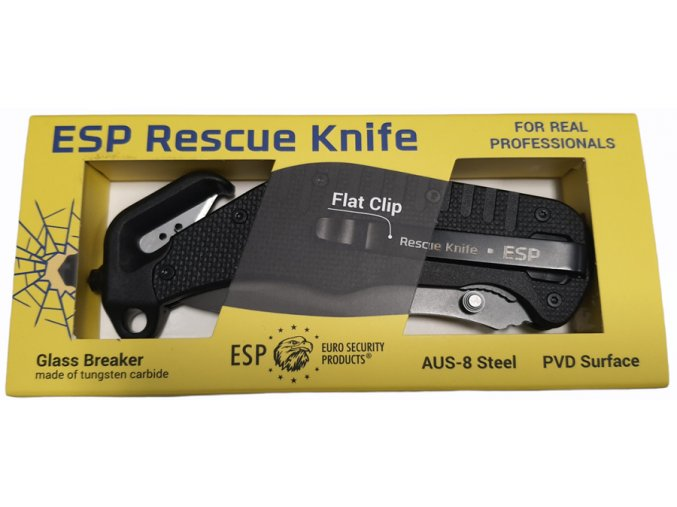 Záchranářský multifunkční nůž s kombinovaným ostřím