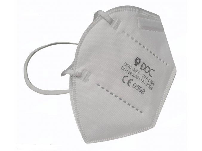 Respirátor FFP2 DOC s pětivrstvou filtrací proti virům a bakteriím