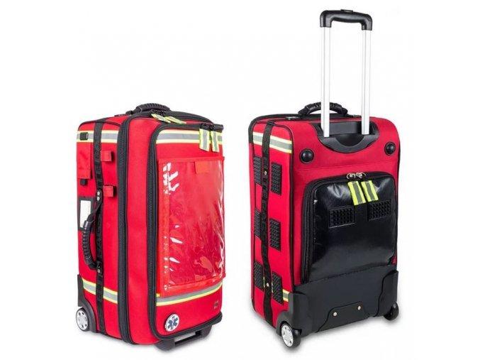 Velkokapacitní záchranářský batoh brašna s výsuvným madlem a USB portem EMERAIRS Trolley 66 l.