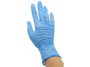 Nitrilové vyšetrovací bezpudrové rukavice EasyCare použití
