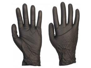 Nitrilové vyšetrovací bezpudrové rukavice EasyCare L Black