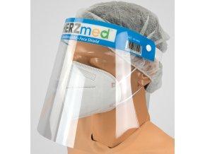 Zdravotnický obličejový ochranný štít Herzmed pohled