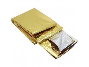 Izotermická fólie zlatá/stříbrná 160 x 210 cm
