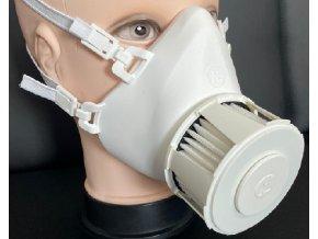 Ochranná polomaska Respira Compact White s nanovláknovým filtrem