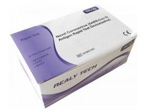 Samotest ze slin REALY Novel Coronavirus SARS Cov 2 Antigen Rapid Test Device krabička 5 ks