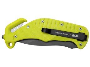 Záchranářský multifunkční nůž Rescue Knife žlutý