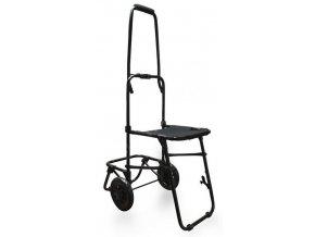Skládací vozík se stoličkou Trolley pro batohy a brašny rozložený