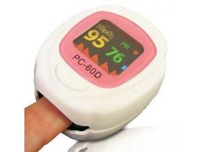 Pediatrický prstový pulsní oxymetr PC-60D s dobíjecí baterií