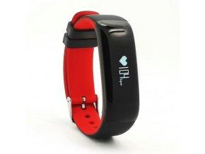 Fitness náramek Deveroux P1 s měřením tlaku červenýg