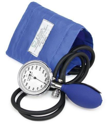 Aneroidní dvouhadičkový tlakoměr PRAKTICUS II Barva: Modrá