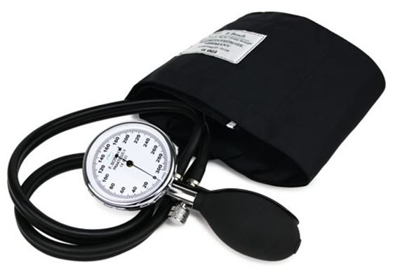 Aneroidní dvouhadičkový tlakoměr PRAKTICUS II Barva: Černá