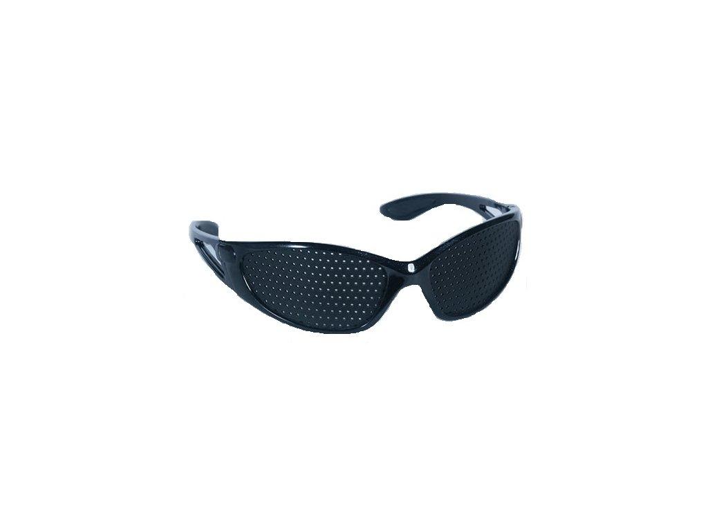 Děrované brýle Vision Fix SPORT (černý) + pouzdro na brýle  Trenér očí