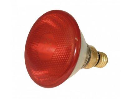 Infražárovka úsporná 100 W, PAR 38, červená