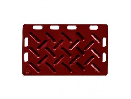 Zábrana dělící a naháněcí, 126 x 76 x 2,5 cm, červená