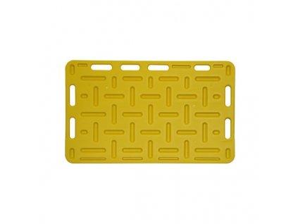 Zábrana dělící a naháněcí, 126 x 76 x 2,5 cm, žlutá