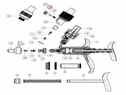 Gumička do pístu k automatu FERRO-MATIC M91