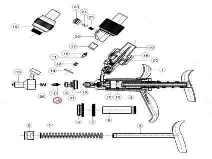 O-kroužek, těsnění č.16 předního ventilu  k automatu FERRO-MATIC M91