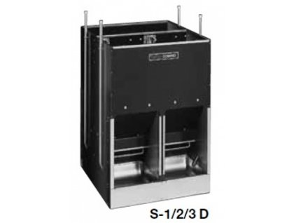 Automatické krmítko, samokrmítko pro prasata se zvlhčováním Domino SLOP FEEDER S-3D