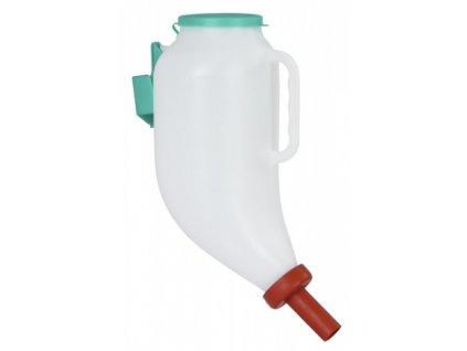 Láhev krmná pro telata s držadlem a držákem, 4 l