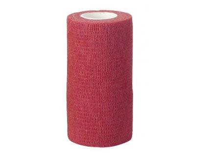 Obvaz samolepící EquiLastic, 10 cm, červený