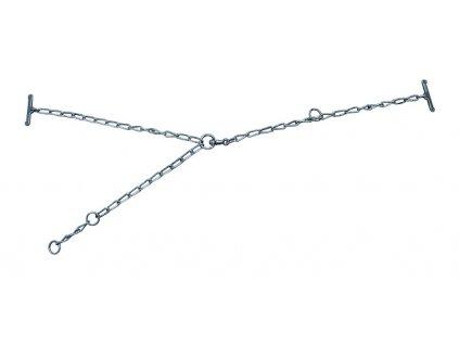 Vazák řetězový pro kozy, 3 mm, 60 cm, 40 cm
