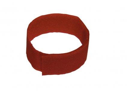 Páska na suchý zip, červená, 10 ks