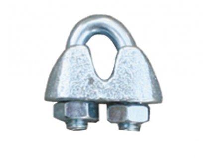 Spojka na lanko pro elektrický ohradník, pozinkovaná, 3-6 mm
