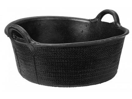 Krmný kbelík, gumový, flexibilní, 32 l, černý