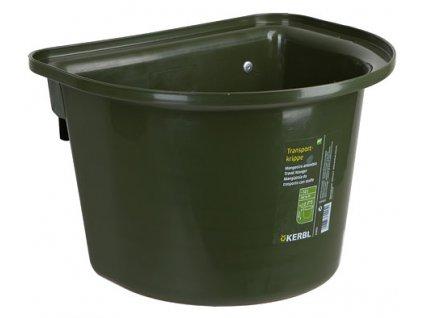 Závěsný kbelík na krmivo 12 l, bez madla, zelený