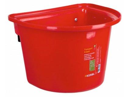 Závěsný kbelík na krmivo 12 l, bez madla, červený