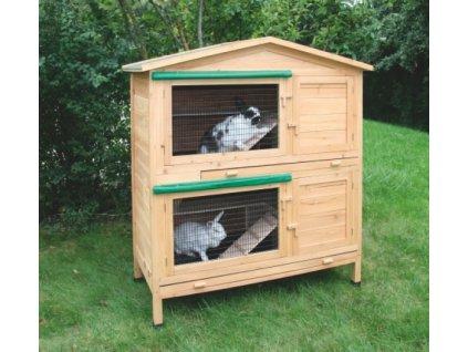Králíkárna dvouposchoďová APPARTMENT - kotec pro králíky, 118 x 61 x 130 cm, vč. dopravy