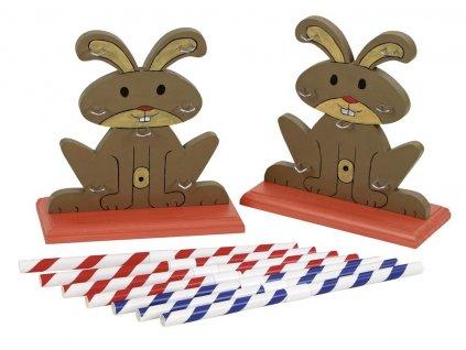 Agility dvojitá variabilní překážka pro králíky a jiné hlodavce - králičí hop