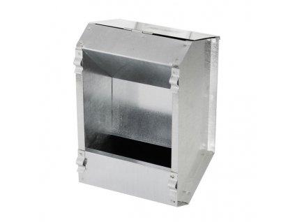 Krmítko závěsné pro králíky a slepice, krmný automat jednoduchý, pozink