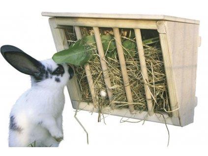 Jesle na seno pro králíky dřevěné, 25 x 17 x 20 cm