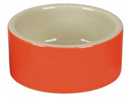 Miska na krmivo keramická, kulatá, 150 ml