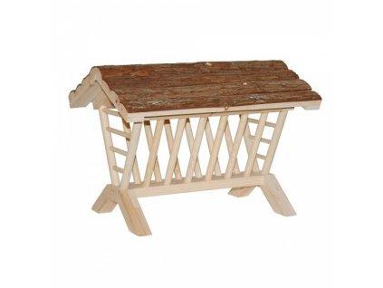 Jesle na seno se stříškou velké, dřevěné, 45 cm