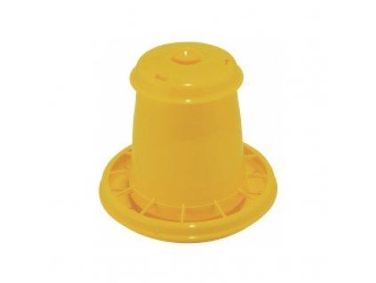 Automat krmící pro drůbež, žlutý, 10,5 l