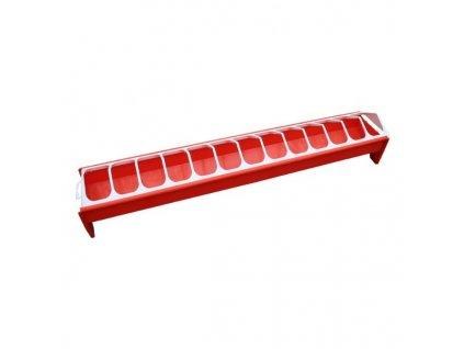 Krmítko pro drůbež žlabové, plastové, 12x75 cm
