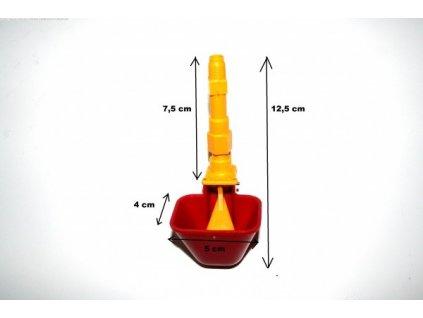 Automatická napáječka větší pro drůbež a křepelky 5 cm prodloužení žluté
