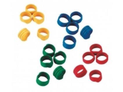 Kroužky na slepice, spirálové, 4 barvy, 12 mm, 100 ks