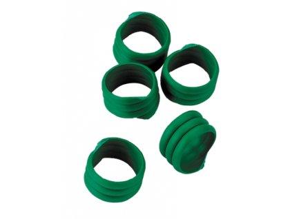 Kroužky na slepice, spirálové, zelené, 16 mm, 20 ks
