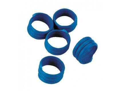 Kroužky na slepice, spirálové, modré, 16 mm, 20 ks