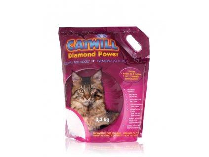 Stelivo pro kočky silikagelové Catwill 7,6 l/3,3kg