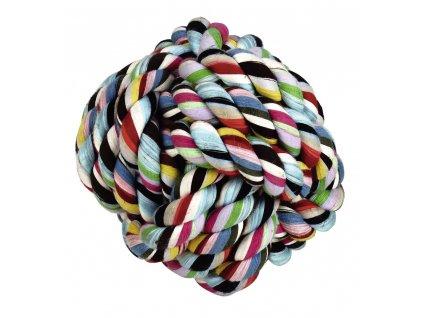 Hračka pro psy bavlněná - míček barevný 9 cm